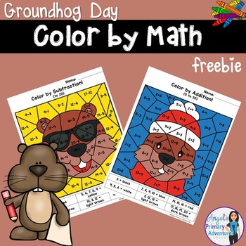 Groundhog Day Color by Code Math Activities