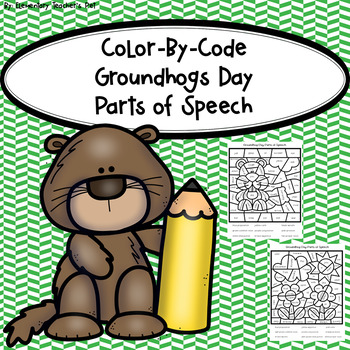 Groundhog Day-Color by Code-Parts of Speech