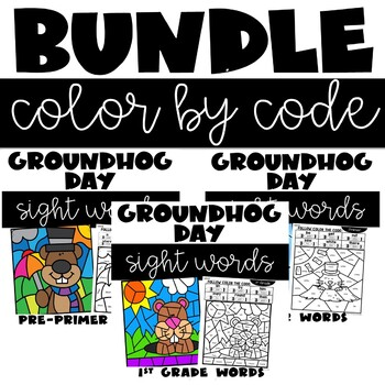 Groundhog Day Color by Code Sight Words