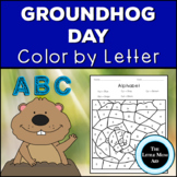 Groundhog Day Color by Letter | Groundhog Day Alphabet Coloring Pages