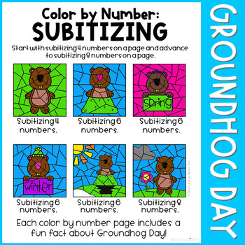Groundhog Day Color by Number