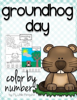 Groundhog Day Color by Number (February 2nd)