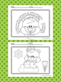 Groundhog Day Coloring Pages - 8 Designs - Black and White