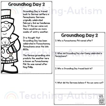 Free groundhog day reading comprehension passages and questions tpt free groundhog day reading comprehension passages and questions ibookread Download