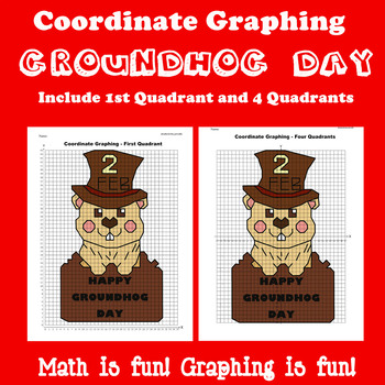 Groundhog Day Coordinate Graphing Picture: Bundle 3 in 1