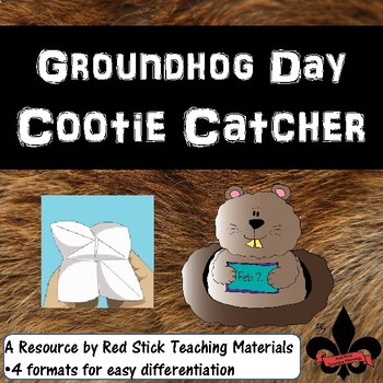 Groundhog Day Cootie Catcher Freebie
