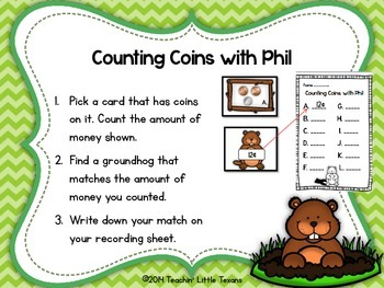 Groundhog Day Counting Coins Center