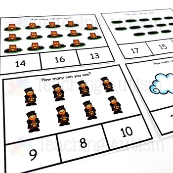 Groundhog Day Counting Task Cards, Math Activity