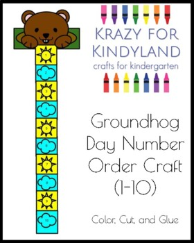 Groundhog Day Craft for Kindergarten: Number Order 1-10