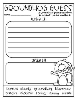 Groundhog Day {Craftivity, Printables & Reader}