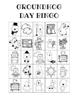 Groundhog Day Bingo Custom Printables