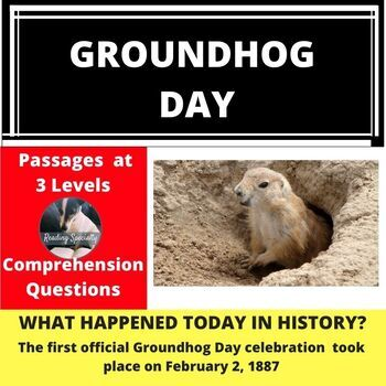 Groundhog Day Differentiated Reading Passage Feb 2