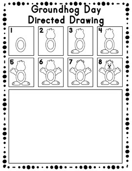 Groundhog Day Directed Drawing Activity for Including Art in any Subject