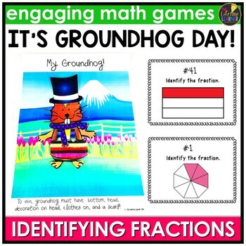 Groundhog Day Identifying Fractions Game