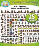 Groundhog Day Doodle Frame Borders {Zip-A-Dee-Doo-Dah Designs}