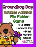 Groundhog Day Doubles Addition File Folder Game