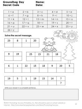 Groundhog Day Literacy Activities, Language Arts Worksheets, Word Work Centers