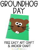 Groundhog Day Easy Art Craft and Anchor Chart Free Download