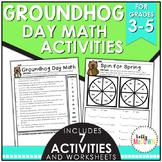 Groundhog Day Elementary Math Activities