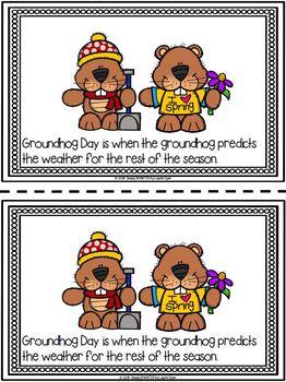 Groundhog Day Emergent Reader Book AND Interactive Activities