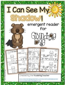 """Groundhog Day Emergent Reader """"I Can See My Shadow"""""""