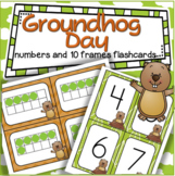 Groundhog Day Matching Numbers and 10-frames 0-20 Center Flashcards