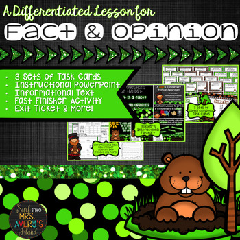 Fact and Opinion:  Differentiated Task Cards and Activities