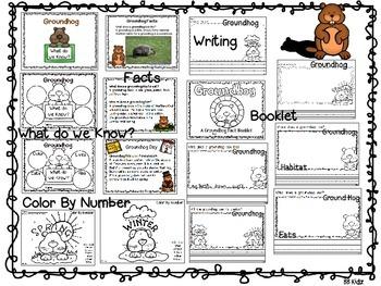 Groundhog Day Facts {A Groundhog Fact Booklet} Kindergarten