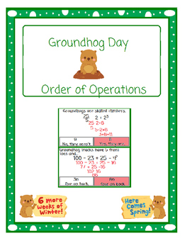 Groundhog Day Facts About Groundhogs-Order of Operations