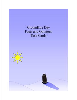 Groundhog Day Facts and Opinions Task Cards