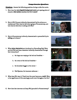 Groundhog Day Film (1993) Study Guide Movie Packet