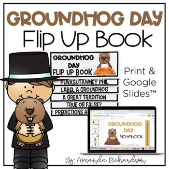 Groundhog Day Flip Up Book