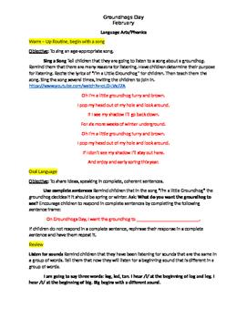 Groundhog Day Full Language Arts Lesson Plan