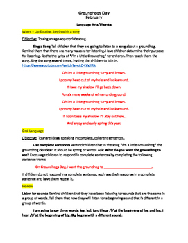 Groundhog Day Full Language Arts Lesson Plan