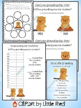 Groundhog Day Fun Packet and Bulletin Board Set - Writing Craft K 1 2