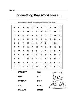 Groundhog Day Fun Worksheet Pack (K-2)