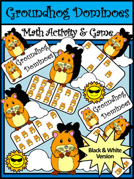 Groundhog Day Game Activities: Groundhog Day Dominoes Math Activity & Math Game