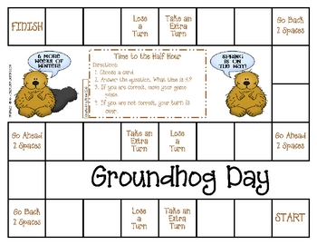 Groundhog Day Game--Time to the Half Hour