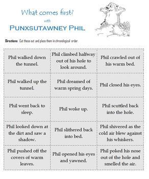 Groundhog Day:  Games and Printables celebrating Punxsutawney Phil