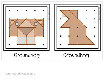 Groundhog Day Geoboard Task Cards
