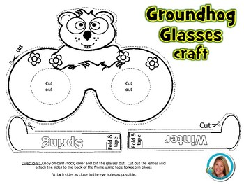 Groundhog Day Glasses Craft