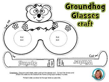 Groundhog Day Craft Glasses