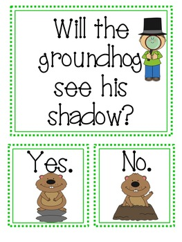 No Shadows To Be Seen On Groundhog Day >> Groundhog Day Graph Hat And Other No Prep Printables By Texas