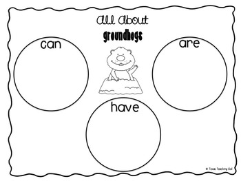 Groundhog Day Graph, Hat, and Other No Prep Printables