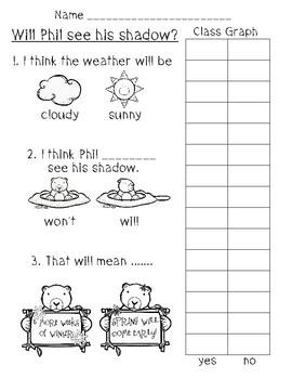 Groundhog Day Graphing activity