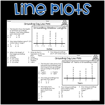 Groundhog Day Graphs {Bar Graphs, Pictographs, Line Plots}