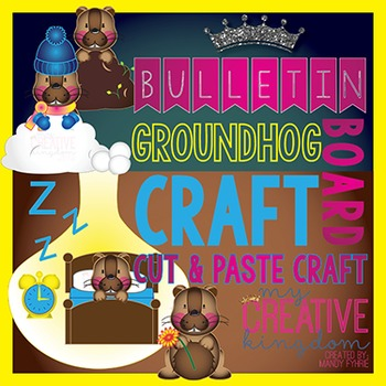 Groundhog Day Habitat Bulletin Board Bundle