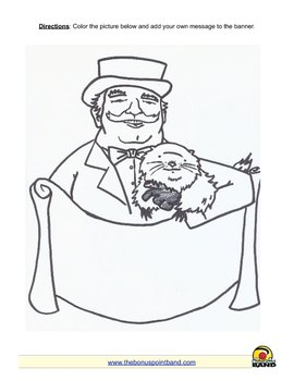 Groundhog Day Handout and Coloring Sheet