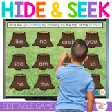 Groundhog Day Hide and Seek Game for Letters and Sight Wor
