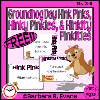 GROUNDHOG DAY HINK PINKS HINKY PINKIES HINKITY PINKITIES  Critical Thinking GATE